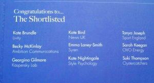 WIM Awards 2014 - Shortlist
