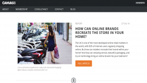 Canvas 8 - How Can Online Brands Recreate The Store in Your Home - Oct 2014